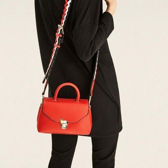 Zara Handbags - Zara Red Mini Crossbody Bag